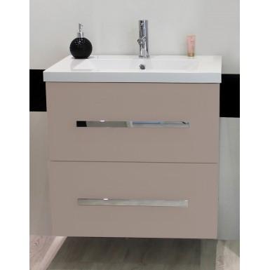 Meuble sous lavabo contemporain nuevo 60 de couleur taupe - Vente ...