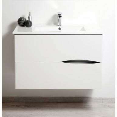 Meuble salle de bain sous vasque 2DOO 70 laqué blanc moderne