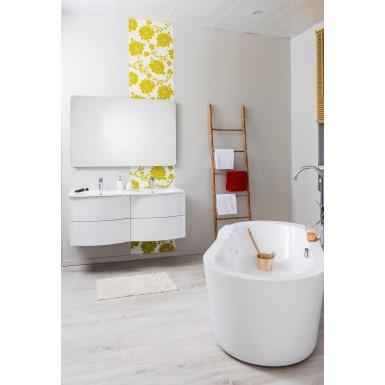 Meuble de salle de bain sous lavabo RONY 120 couleur blanc et ...