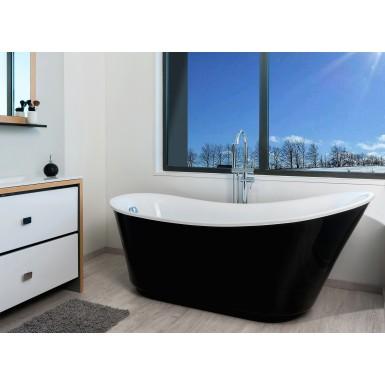 baignoire ilot lalie de couleur noire et moderne robinet co. Black Bedroom Furniture Sets. Home Design Ideas