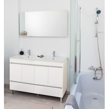 MEUBLE A POSER LANCELO 120 BLANC blanc Moderne