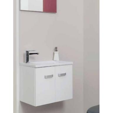 Meuble salle de bain lave-mains EPICE LAQUE 50 couleur blanc style ...