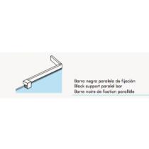 Barre de fixation parallèle noire pour paroi fixe