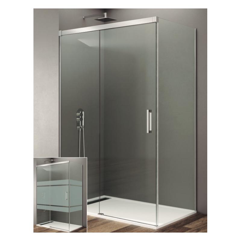 paroi de douche d 39 angle rhea acc s frontale avec profil s. Black Bedroom Furniture Sets. Home Design Ideas