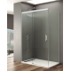 Paroi de douche d'angle RHEA accès frontale avec profilés chromé, blanc ou noir