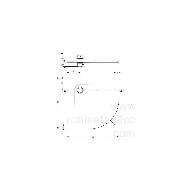 receveur de douche quart de rond nature extraplat hidrobox robinet and co receveur de douche. Black Bedroom Furniture Sets. Home Design Ideas