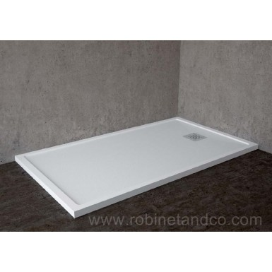 Receveur de douche cube extraplat avec rebords hidrobox - Bac a douche extra plat 90x120 ...