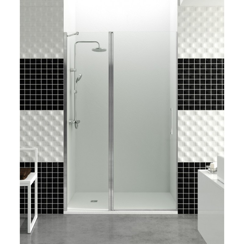 Paroi de douche porte battante helia c robinet and co for Porte douche battant verre