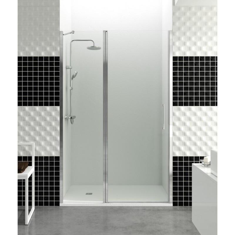 Paroi de douche porte battante helia d robinet and co - Porte douche battante ...