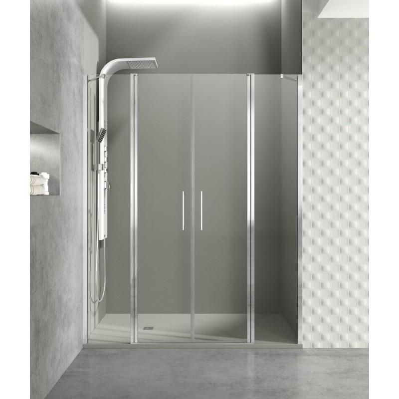 Paroi de douche portes battantes helia g robinet and co for Paroi de douche porte