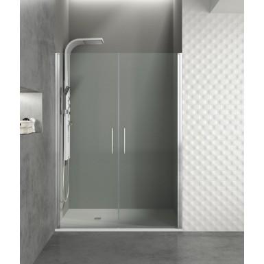 Paroi de douche portes battantes helia i robinet co - Porte coulissante pour douche de 130 cm ...