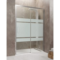 Porte de douche coulissante 140 Tethys Satin par Robinet and Co