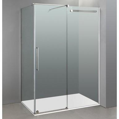 Paroi de douche d 39 angle phebe acc s sur cot robinet and - Paroi douche angle ...