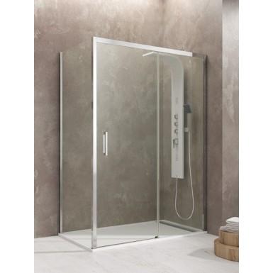 Paroi de douche d'angle TETHYS accès sur coté