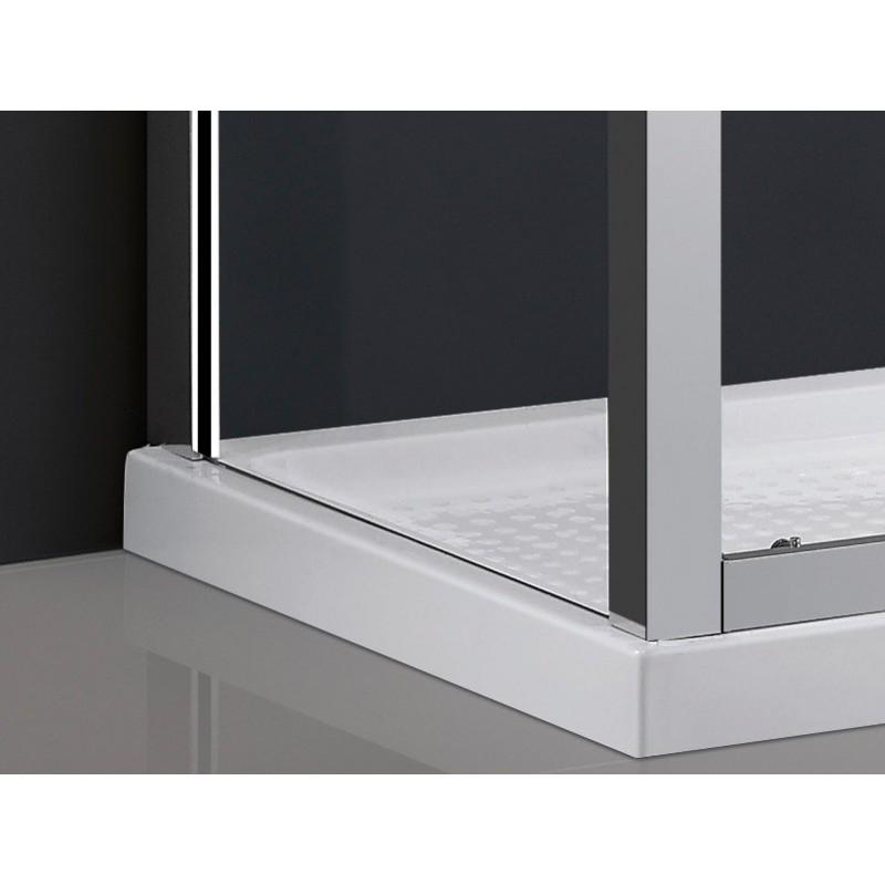 paroi de douche d 39 angle theia acc s frontal robinet co. Black Bedroom Furniture Sets. Home Design Ideas