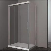 Paroi de douche d'angle double coulissante TRES accès sur coté
