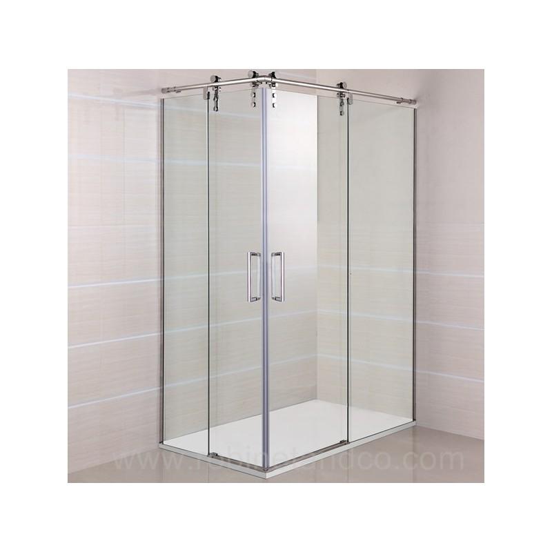 Paroi de douche d 39 angle roll acc s sur angle robinet and co paroi de douche - Paroi douche angle 90x90 ...
