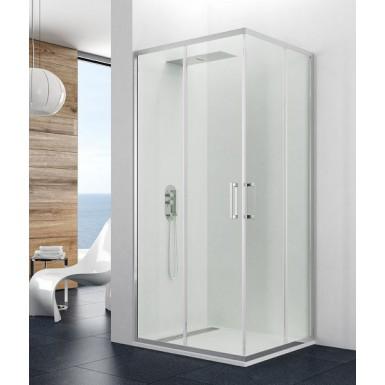 Porte de douche coulissante 160 d'angle Theia accès sur angle par Robinet and Co