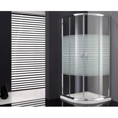 Paroi de douche d 39 angle cronos quart de rond s rigraphi e robinet and co paroi de douche - Paroi de douche quart de rond ...