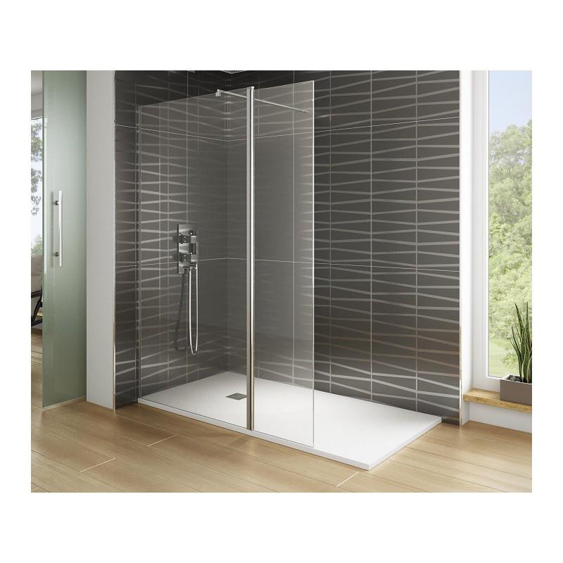 paroi fixe screen avec verre mobile 40 cm robinet and co paroi de douche. Black Bedroom Furniture Sets. Home Design Ideas