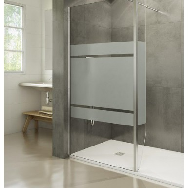Paroi de douche fixe 100 Screen Satin par Robinet and Co