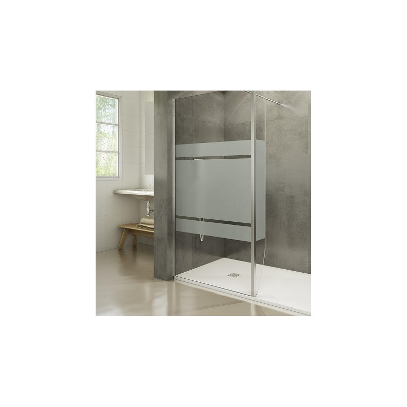 paroi fixe screen satin avec retour fixe 20 cm robinet and co paroi de douche. Black Bedroom Furniture Sets. Home Design Ideas