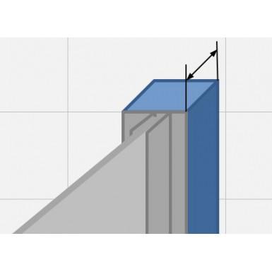 Profilé de compensation Aluminium brillant - grand rattrapage
