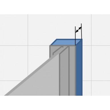 Profilé de compensation Aluminium brillant - faible rattrapage