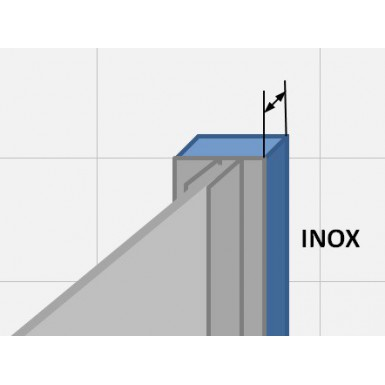 Profilé de compensation Inox - faible rattrapage