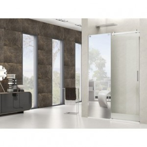 option panneau miroir sur paroi de douche robinet and co. Black Bedroom Furniture Sets. Home Design Ideas