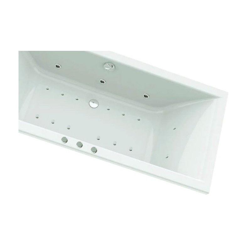 baignoire droite balneo 180x80cm cleopatre ii duo. Black Bedroom Furniture Sets. Home Design Ideas