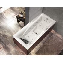 Baignoire droite balnéo TECNICA ergonomique massante 180 x 80 cm