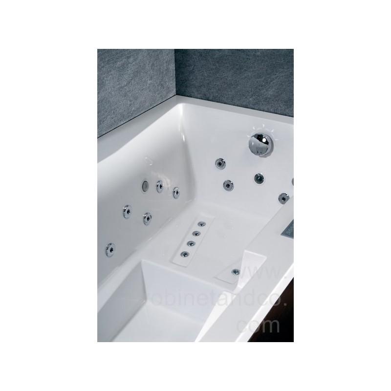 Baignoire droite baln o tecnica ergonomique massante 180 x for Dimension baignoire droite