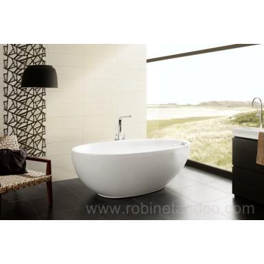 Baignoire ilot lounge 185 x 95 robinet and co baignoire - Robinetterie pour baignoire ilot ...