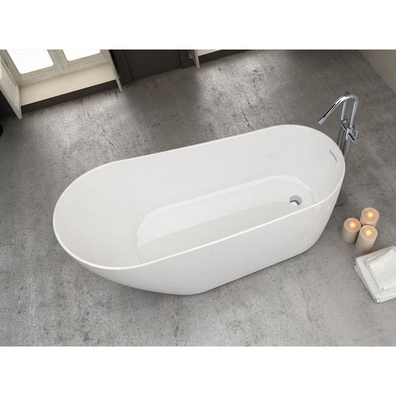 Baignoire ilot 180 x 70 80 dalia robinet and co baignoire for Baignoire ilot 160 x 80