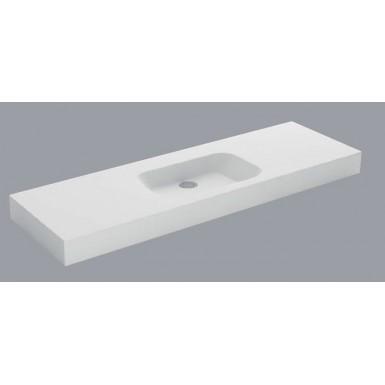 Plan vasque mural blanc mat CODE Solid Surface