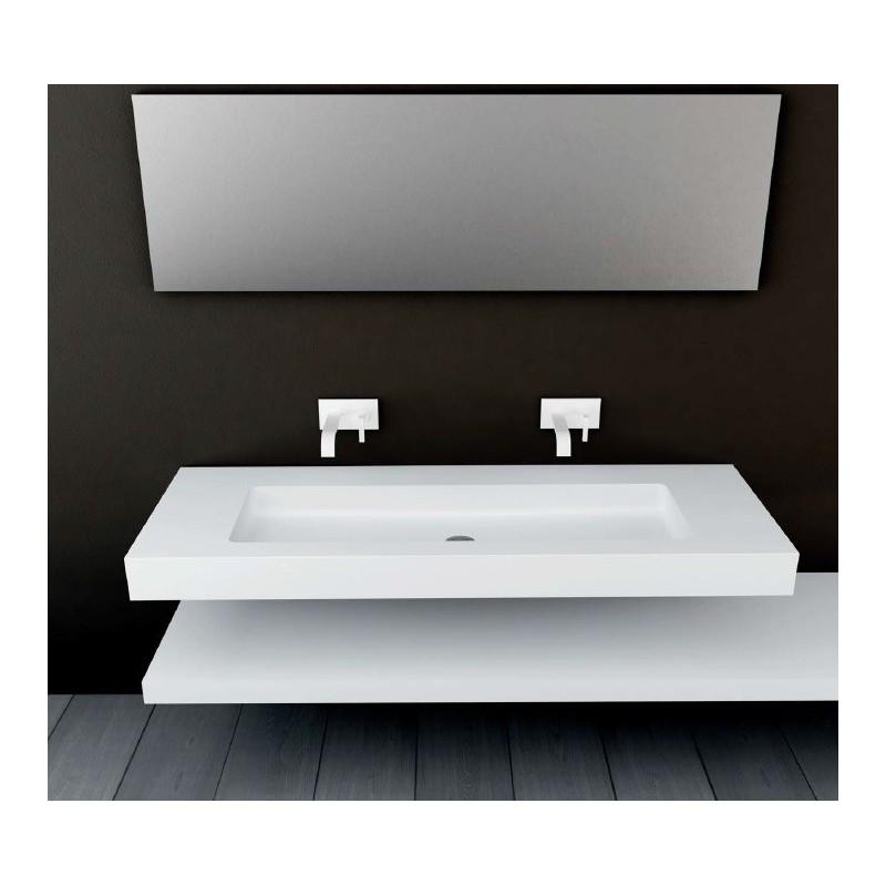 plan vasque mural blanc mat soho solid surface vasque xl. Black Bedroom Furniture Sets. Home Design Ideas