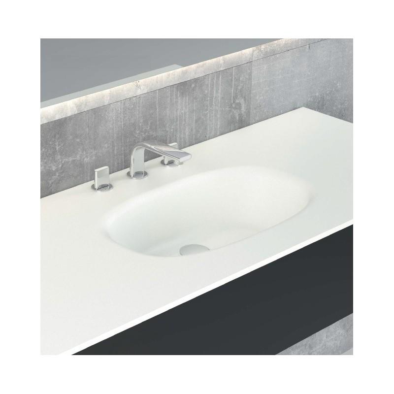 plan vasque blanc mat flow solid surface hidrobox robinet and co plan vasque. Black Bedroom Furniture Sets. Home Design Ideas