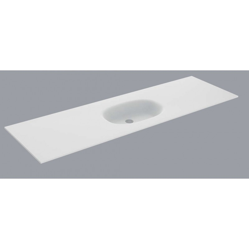 plan vasque blanc mat flow solid surface hidrobox vasque large - 100 Cm Plan Vasque