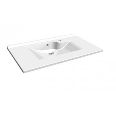 Plan double vasque Flow Solid Surface Hidrobox par Robinet and Co