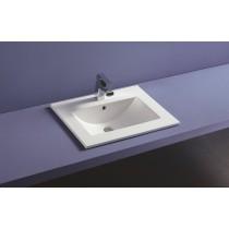 Plan vasque céramique à encastrer THIN profondeur 46 cm