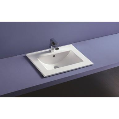 Plan vasque céramique à encastrer THIN profondeur 46 cm - Robinet&Co