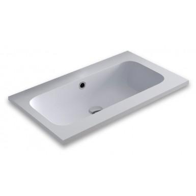 Plan vasque à encastrer marbre minéral profondeur 46 cm