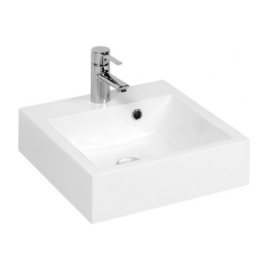 vasque carr e poser en marbre de synth se robinet and. Black Bedroom Furniture Sets. Home Design Ideas