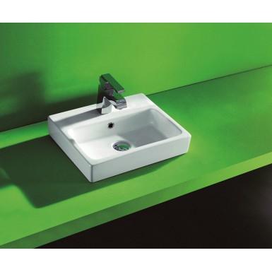vasque poser en porcelaine maill e orenoque robinet. Black Bedroom Furniture Sets. Home Design Ideas