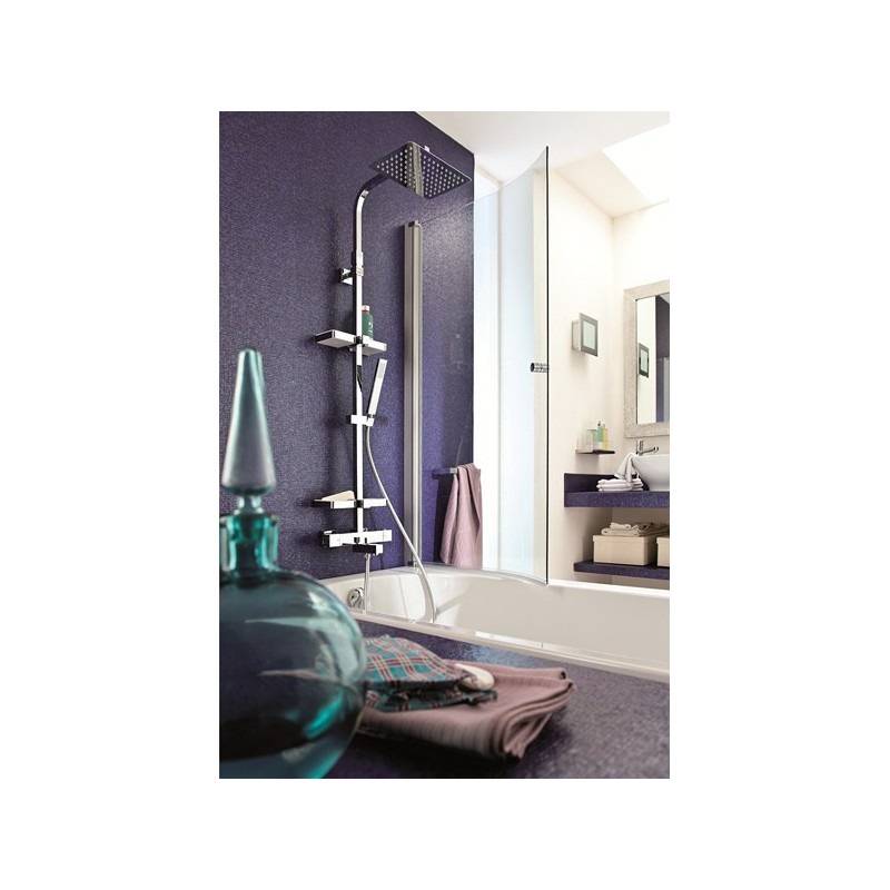 colonne bain douche thermostatique touareg valentin avec tablette porte objets robinet and co. Black Bedroom Furniture Sets. Home Design Ideas