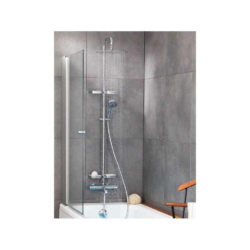 colonne de douche thermostatique opium valentin avec tablettes robinet and co robinetterie douche. Black Bedroom Furniture Sets. Home Design Ideas