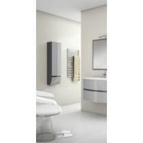 Colonne salle de bain suspendue OMICRON 1 tiroir et 1 porte laquée bicolore
