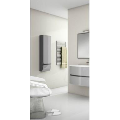 colonne salle de bain suspendue omicron 1 tiroir et 1 porte laqu e bicolore robinet and co. Black Bedroom Furniture Sets. Home Design Ideas