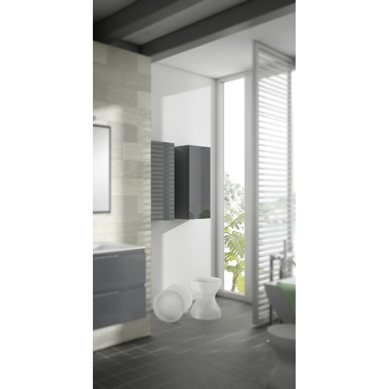 armoire de salle de bain suspendue kuta 1 porte robinet. Black Bedroom Furniture Sets. Home Design Ideas